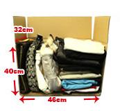 サイズ中 バッグが数点・洋服が入ります