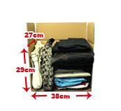 サイズ小 バッグが少しと洋服が入ります